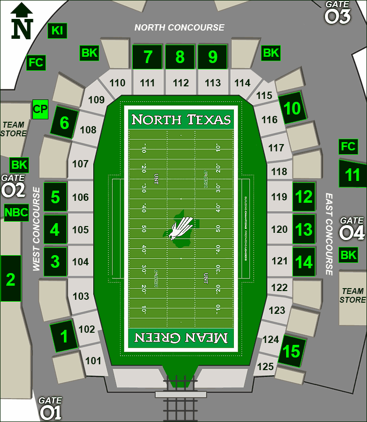 Apogee Stadium concessions map - Cheetos Popcorn