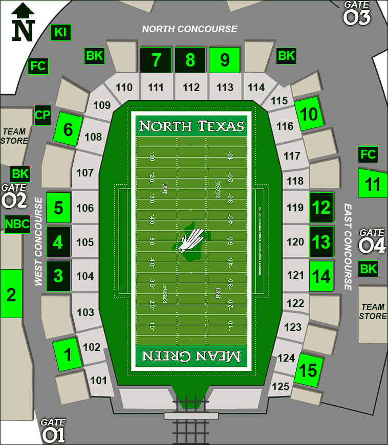 Apogee Stadium concessions map - Lemon Chill
